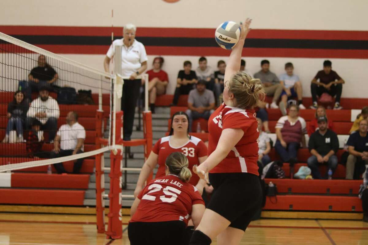Bear Lake hosts Mesick in the Lakers' home volleyball opener on Sept. 21.