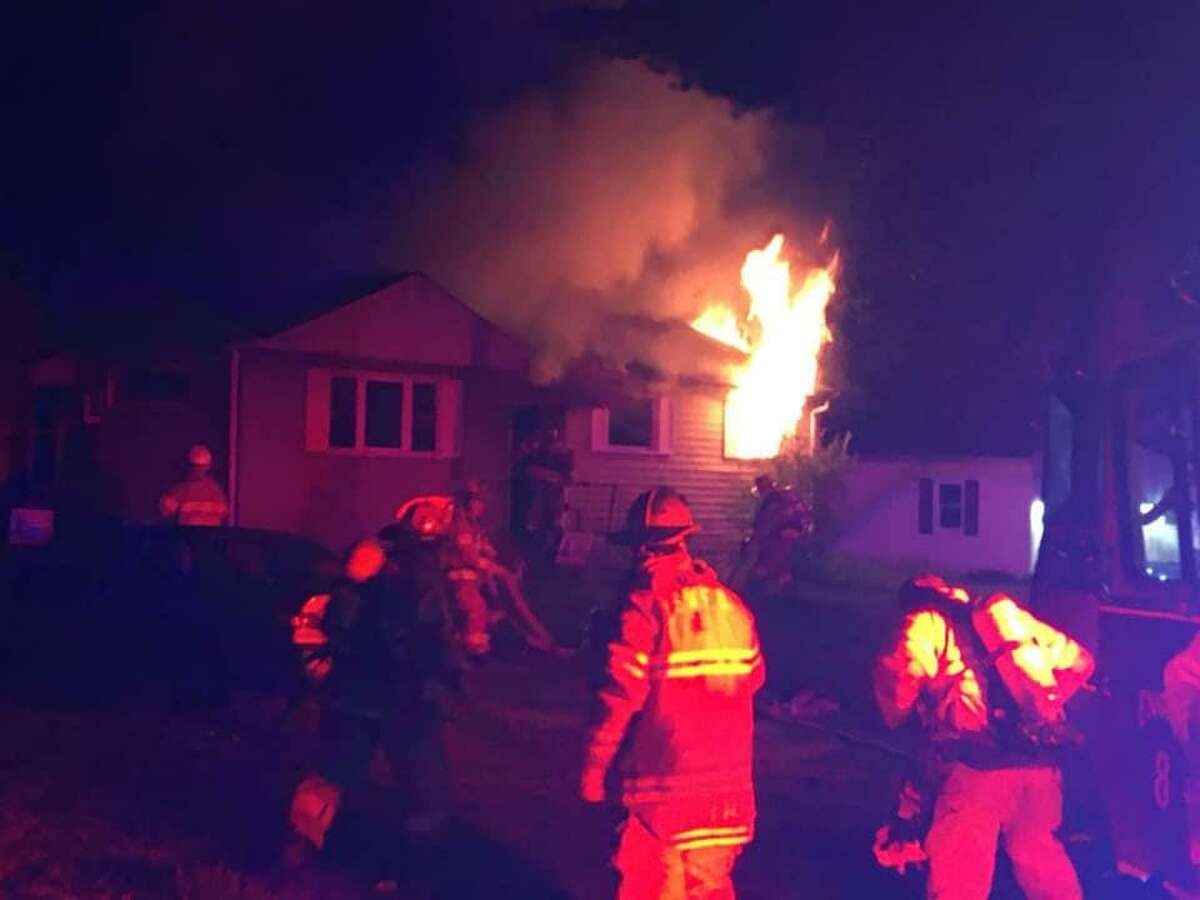 Firefighters responded to a blaze on Ann Road in South Windsor Tuesday night.