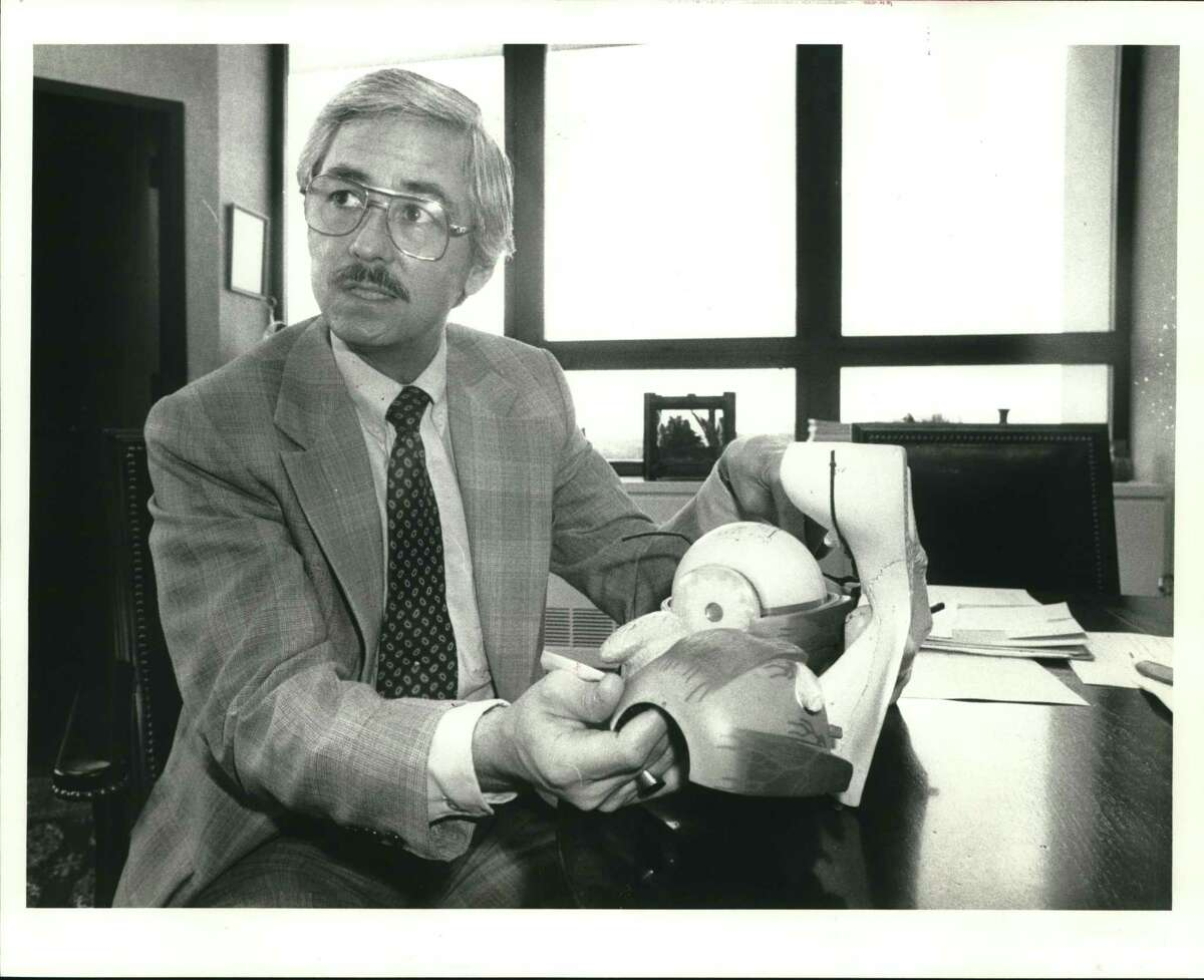 Dr. Richard Ruiz, shown in an undated archive photo, says eye problems can best be treated when they are detected early.