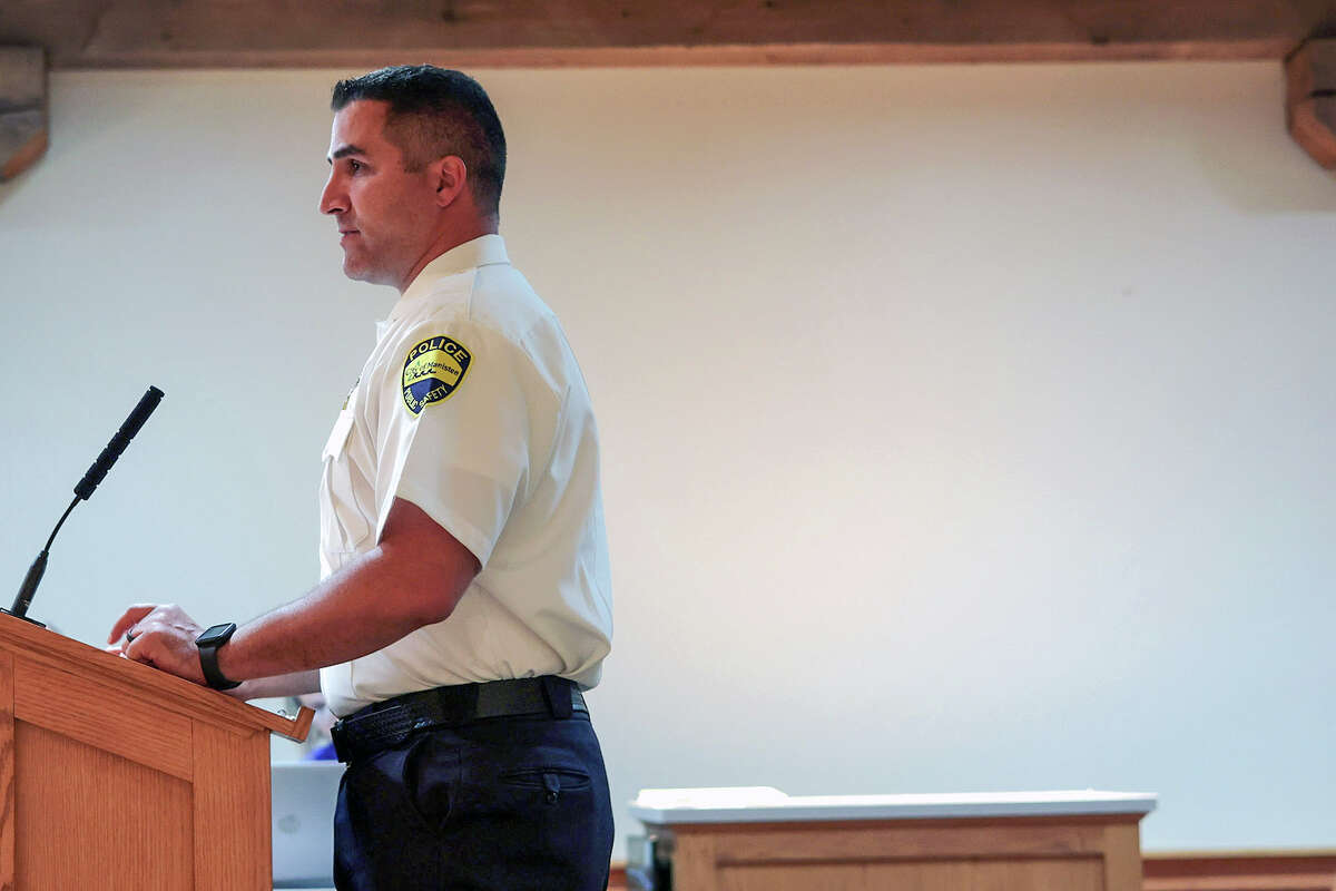 Manistee City Police Chief Josh Glass gave a presentation on Sept. 16 on his role with Manistee County Child Advocacy Center during the Manistee County 17th annual Regional Summi