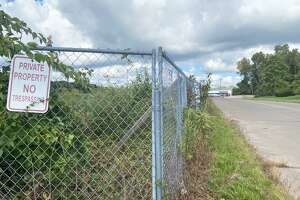 Amazon is considering building a distribution center in Branford off Exit 53 of Interstate 95. The site, across from the Walmart entrance on Commercial Parkway, is shown Monday morning.
