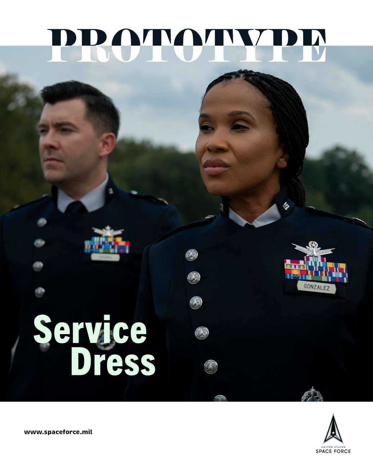 The Space Force unveiled a uniform prototype on Wednesday, Sept. 22, 2021.