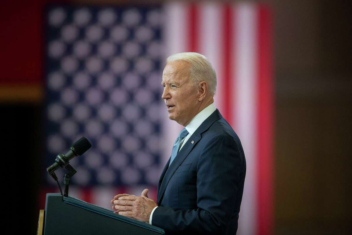 President Joe Biden delivers a speech about voting rights earlier this year at the National Constitution Center in Philadelphia. (Jose F. Moreno/The Philadelphia Inquirer/TNS)