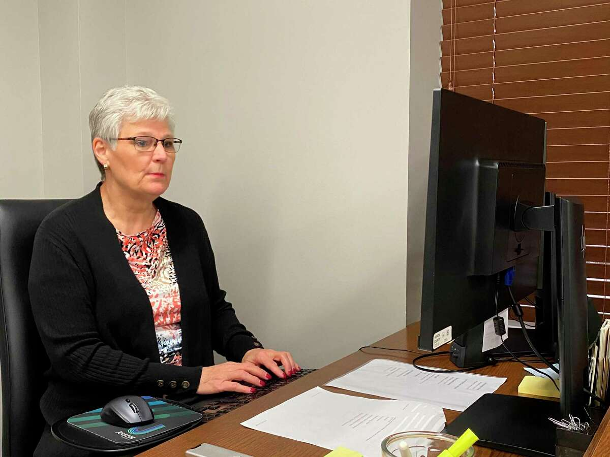 Karen Rutkowski is also a Certified Court Recorder. (Connor Veenstra/Huron Daily Tribune)