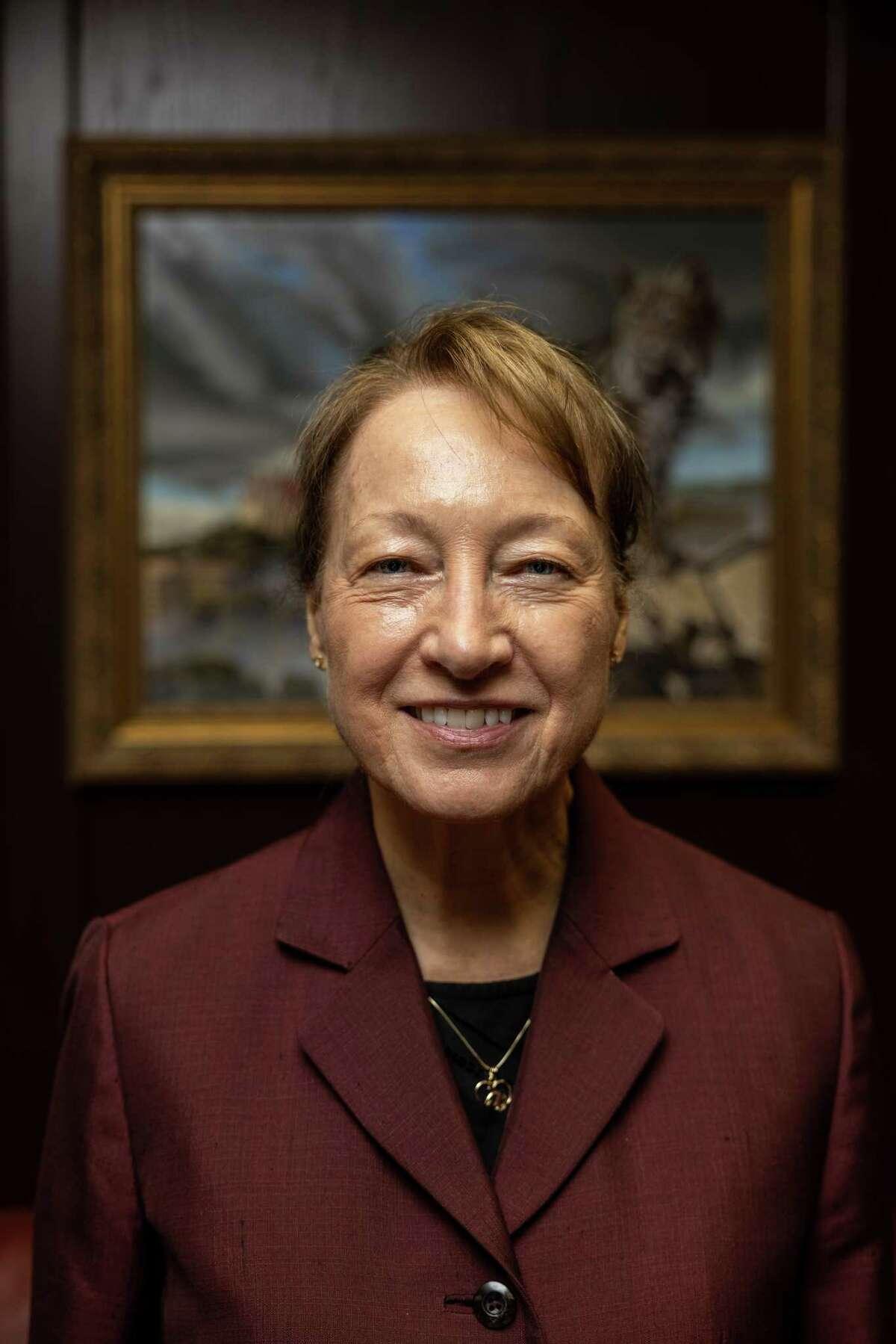 Texas State University President Denise Trauth retires next year.