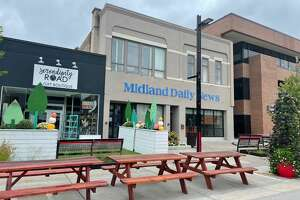 Pictured is Downtown Midland during the power outage today, Sept. 22.