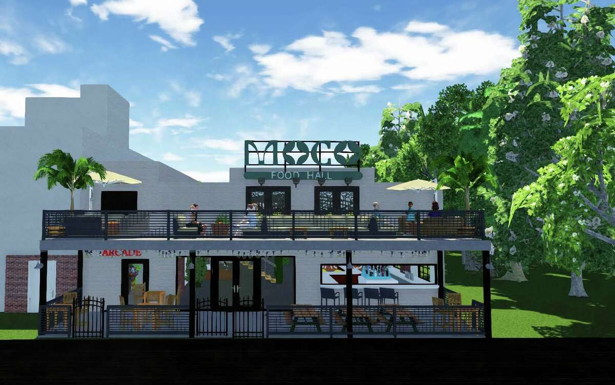 MoCo Food Hall is coming to downtown Conroe later this year or in early 2022. The food hall is at 109 Metcalf Street adjacent to Pacific Yard House. It will feature a coffee bar, a patio and balcony, live music and five eateries under one roof.