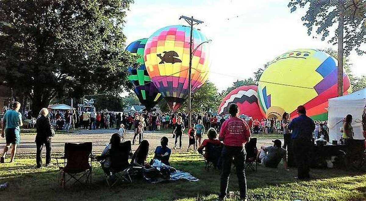 This file photo shows hot air balloons at the Balloons Over Marine Festival. The event returns Friday and Saturday.