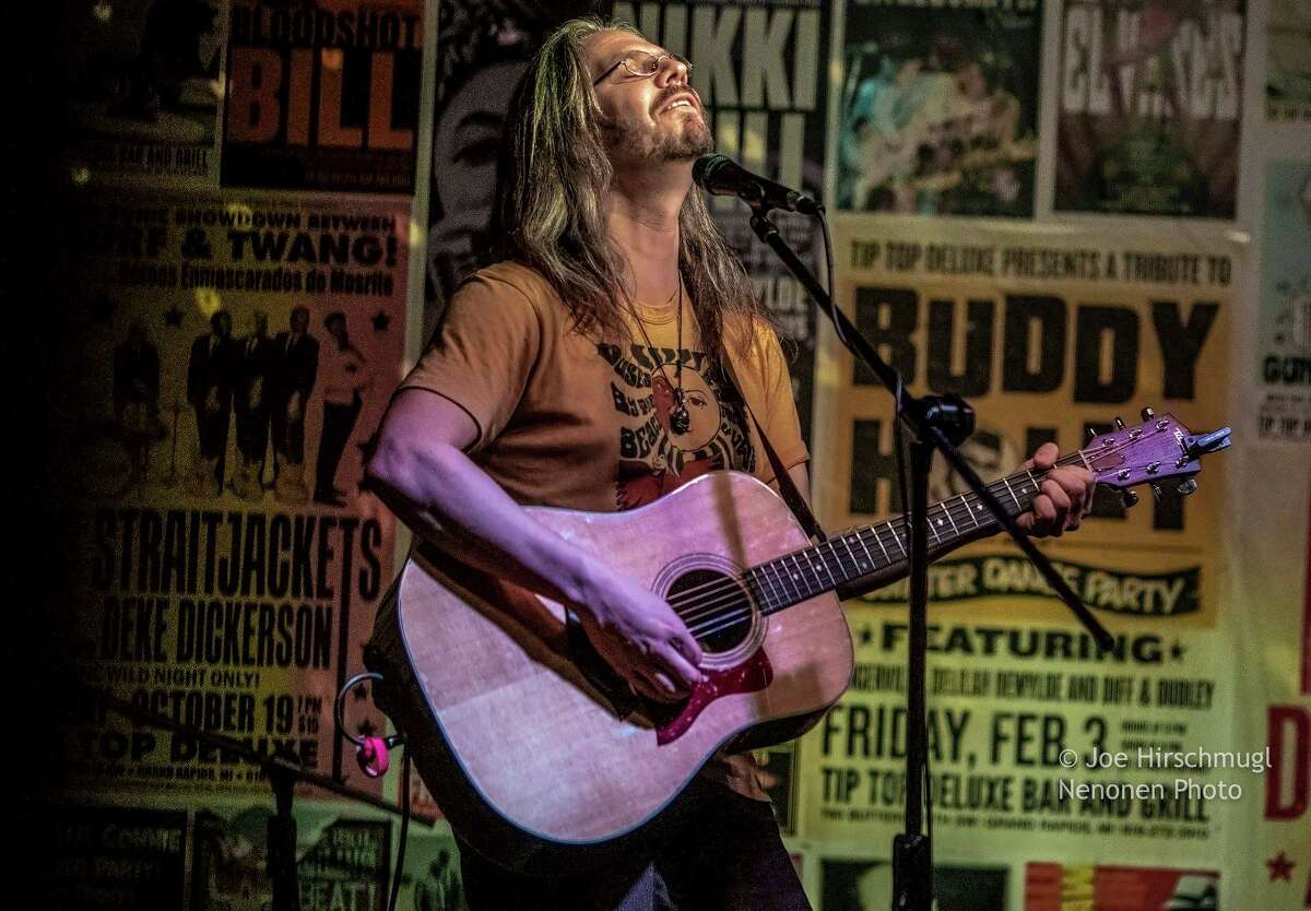 Grand Rapids musician Nicholas Thomasma, above, is the driving force behind HuCo Songs, a songwriting retreat taking place this weekend in Port Austin. The retreat will culminate in a free community concert at the Bee Barn at 6 p.m. on Saturday. (Courtesy Photo)