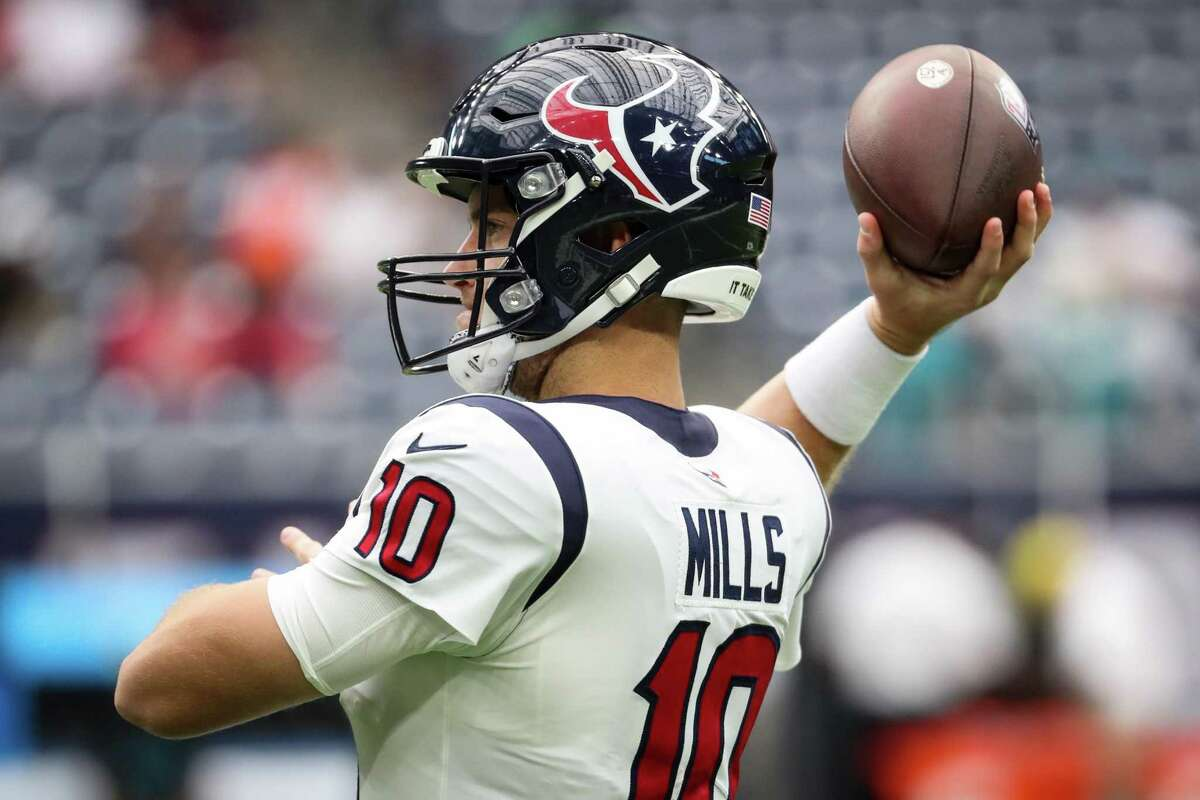 Rookie Davis Mills gets the start for the Texans against Carolina on Thursday.