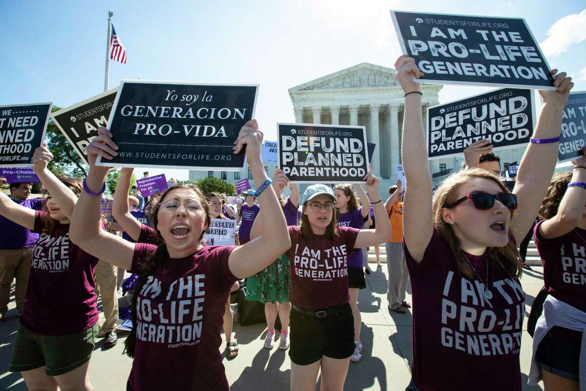 Opponents of abortion rally outside of the Supreme Court in 2018. A reader says part of being pro-life is speaking up for the unborn.