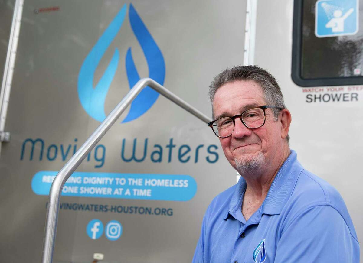Jimmy Patterson's Moving Waters organization helps provide mobile showers for the homeless in the Great Houston area.