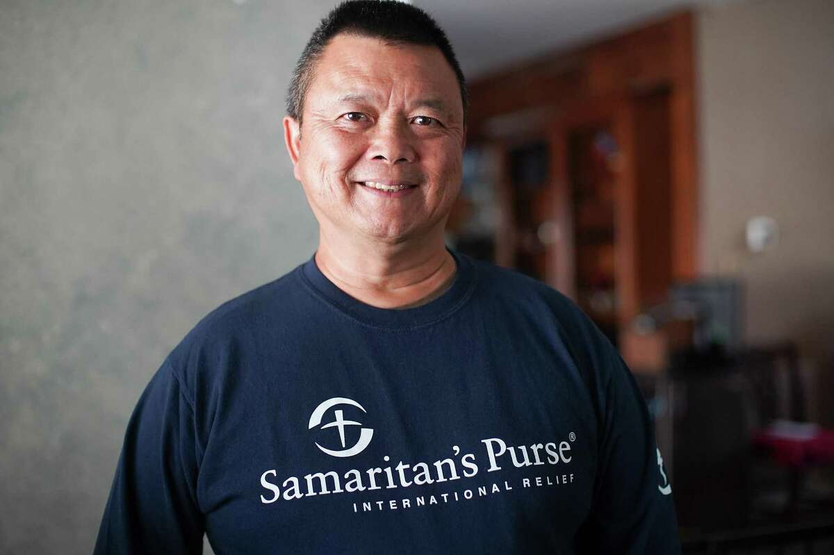 Dr. Peter Kwan in his Sugar Land home on Wednesday, Sept. 8, 2021. Kwan is a retired family medicine practitioner who is now a volunteer missionary physician with Samaritan's Purse.