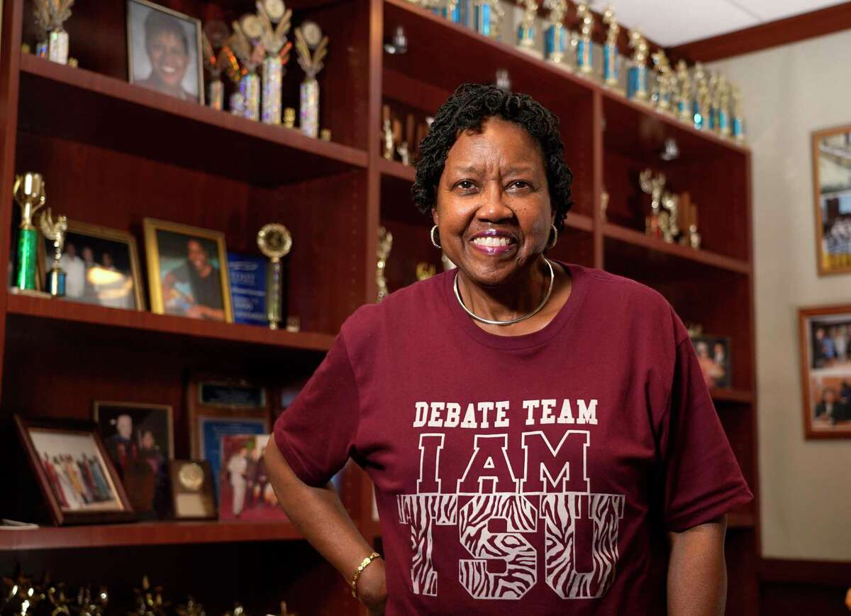 Gloria-Batiste Roberts, head coach of the Texas Southern University debate team, also has served as Child Protective Services supervisor for decades.