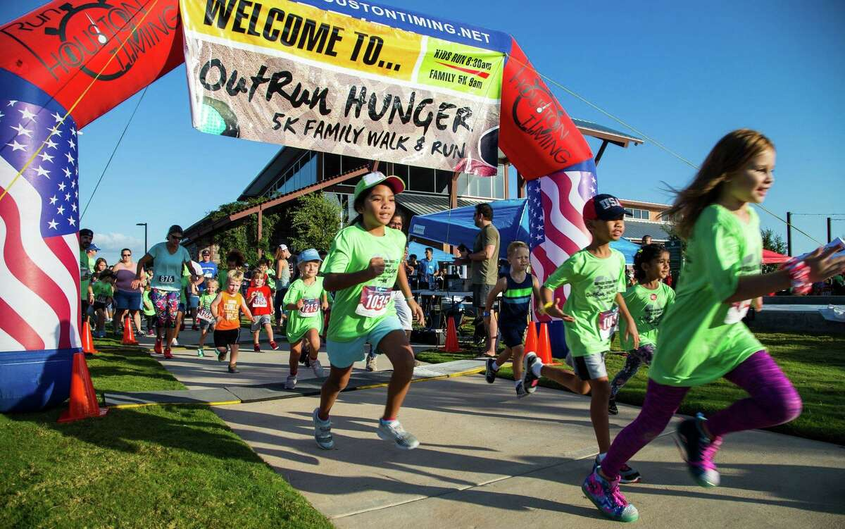 OutRun Hunger 5K at Harvest Green in Richmond, Texas.
