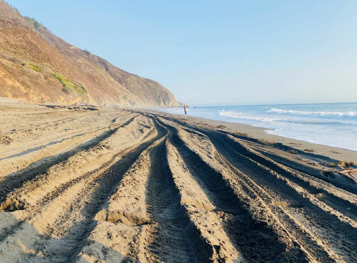 Illegal off-roading is damaging the fragile environment on Usal Beach in Sinkyone Wilderness State Park.