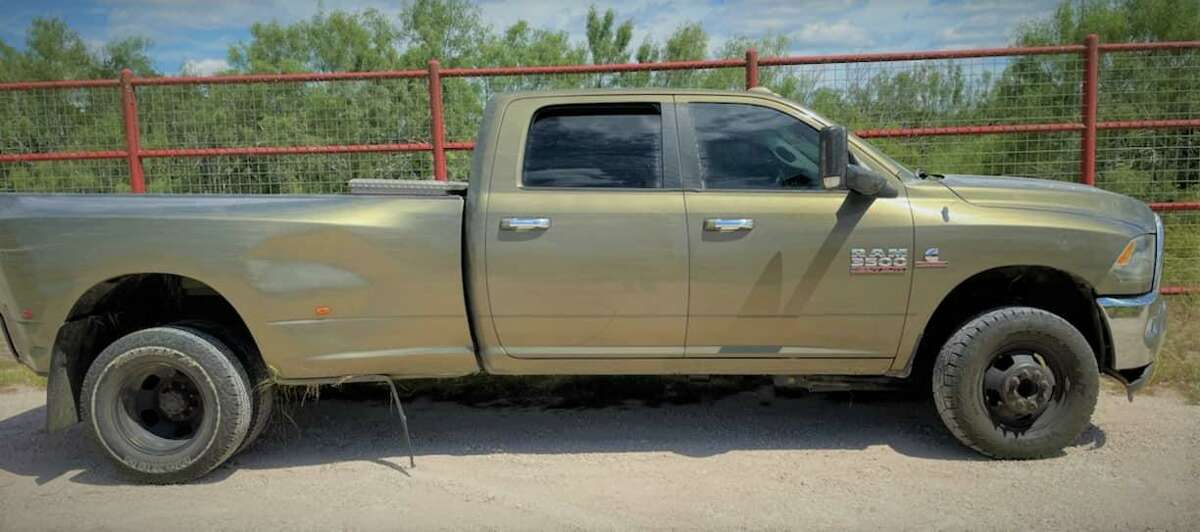 U.S. Border Patrol agents assigned to the Hebbronville Station said they recovered this stolen vehicle during a human smuggling attempt where authorities apprehended seven migrants.
