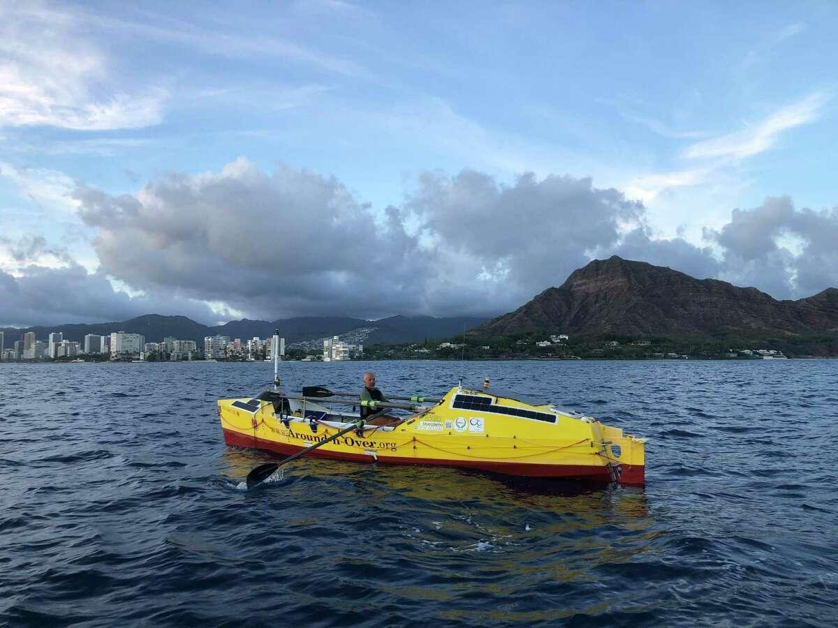 Eruç approaching Waikiki, near Diamond Head, earlier in September.