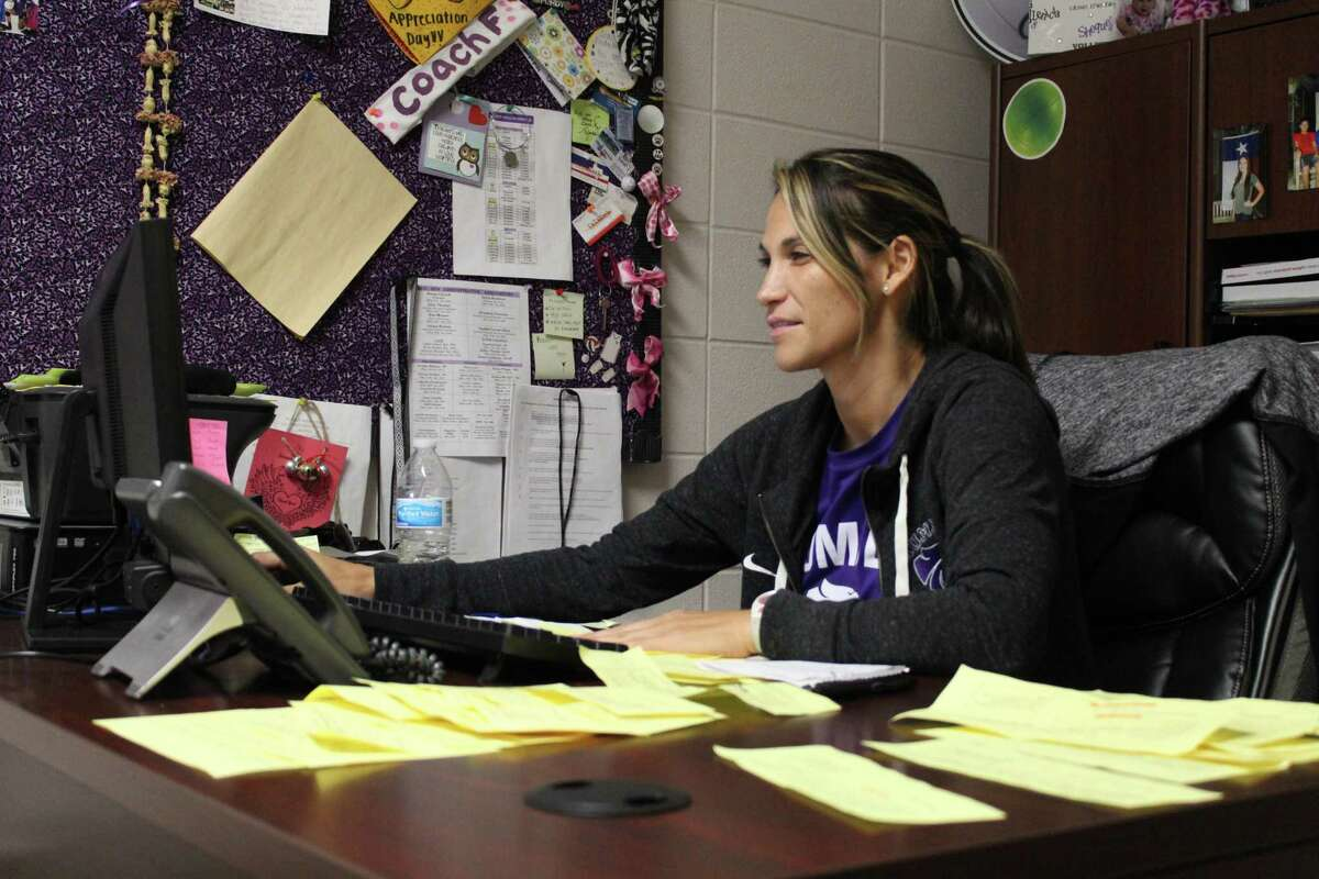 Humble head coach Michelle Funderburk planning for the Lady Wildcats.
