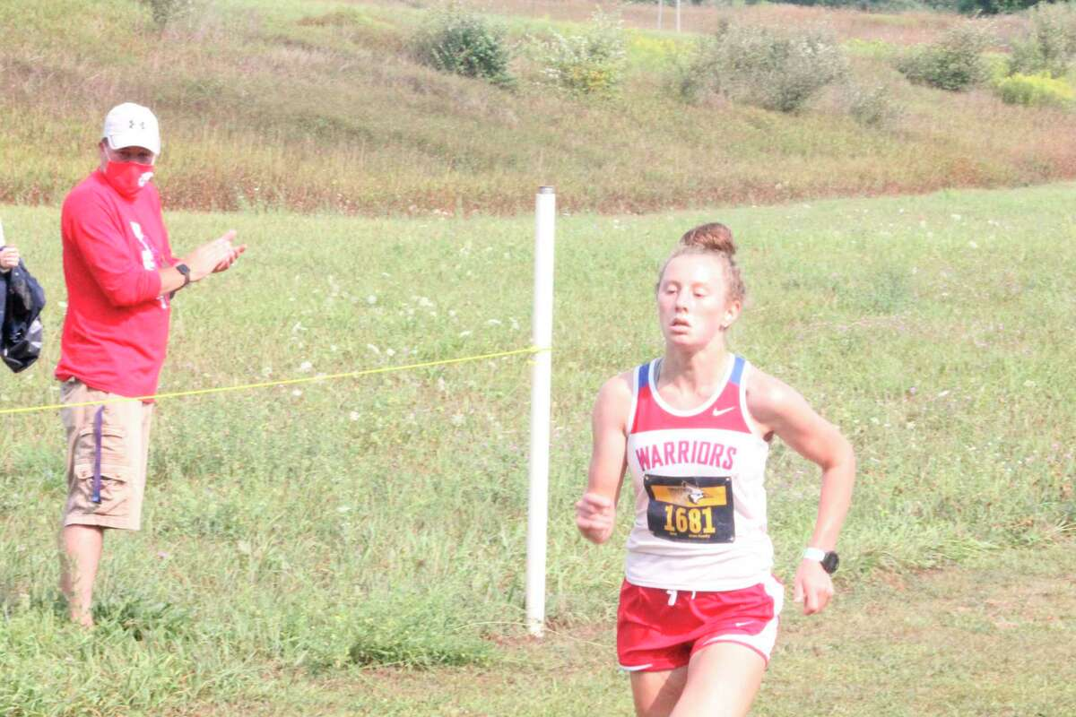 Chippewa Hills' Sarah Storey led the way to a first-place finish for her team in Tuesday's CSAA jamboree. (Pioneer file photo)
