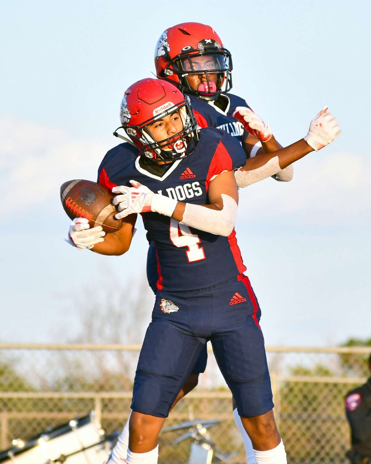 Receivers Damian Valenzuela (4) and Jerome Johnson would like to help Plainview pick up a win in their homecoming clash with Hereford on Friday.