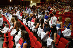 Kinley Brown of Jerseyville was among those taking part in the University of Mississippi School of Pharmacy white coat ceremony.