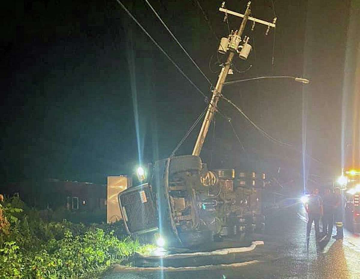 A crash on Route 140 Wednesday night left the road closed between Route 5 and Winkler Road in East Windsor, Conn., into the morning on Thursday, Sept. 23, 2021.