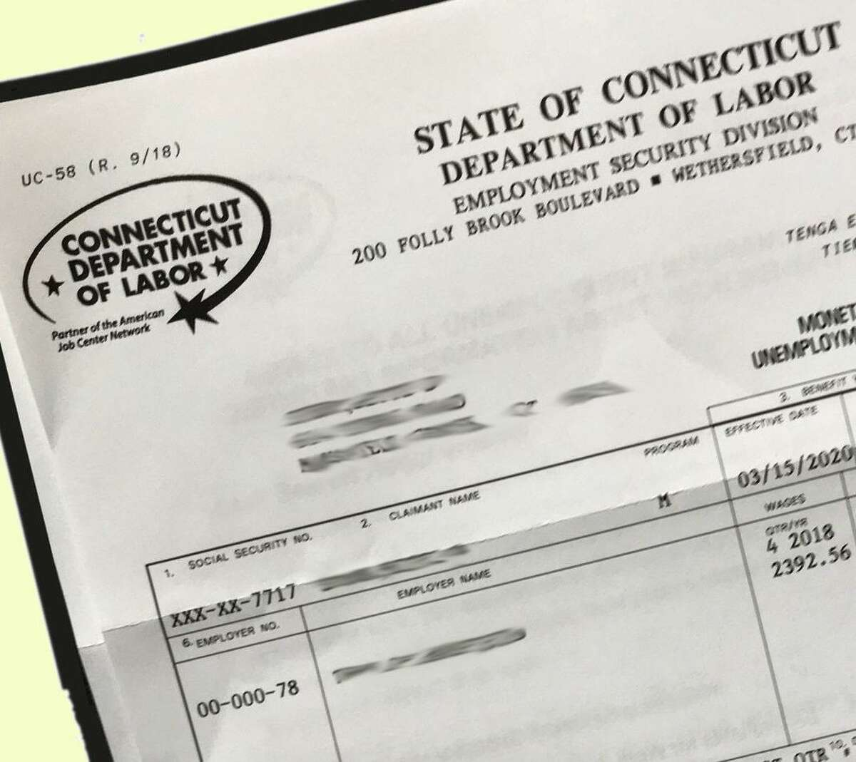 A pair of Connecticut lawmakers are calling on the state Department of Labor to forgive millions of dollars in overpayments that were made through the unemployment system.