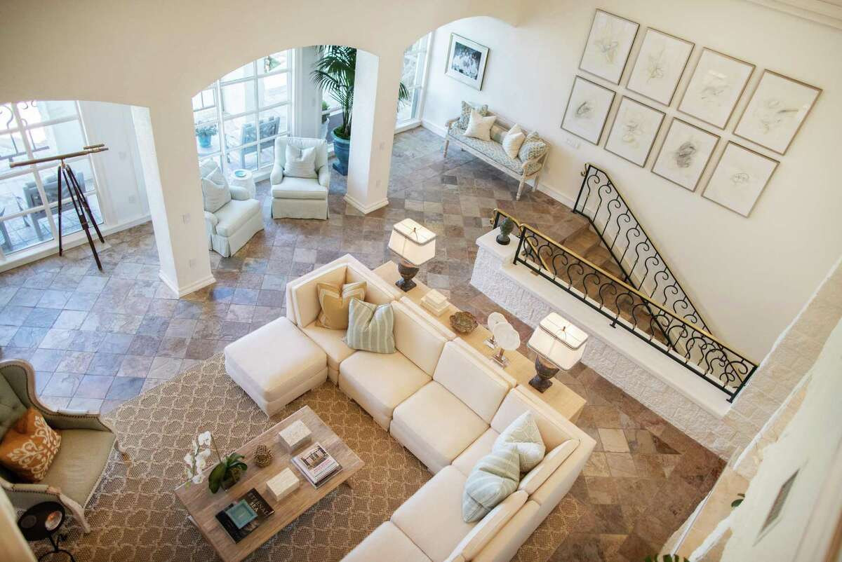 Interior view of Dr. Mike and Bethany McCann's waterfront home in Kemah, Tuesday, Aug. 31, 2021.
