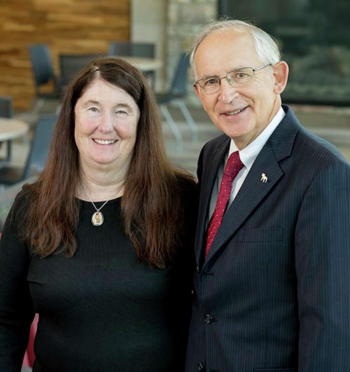 """Ferris State University President David Eisler and his wife, Patsy are grand marshals for the 95th Homecoming celebration, with the schedule of activities under the theme """"Bulldogs Back to Campus"""" concluding Saturday, Sept. 25. (Courtesy photo)"""