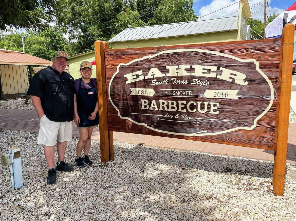 Lance and Boo Eaker atEaker Barbecue, Fredericksburg