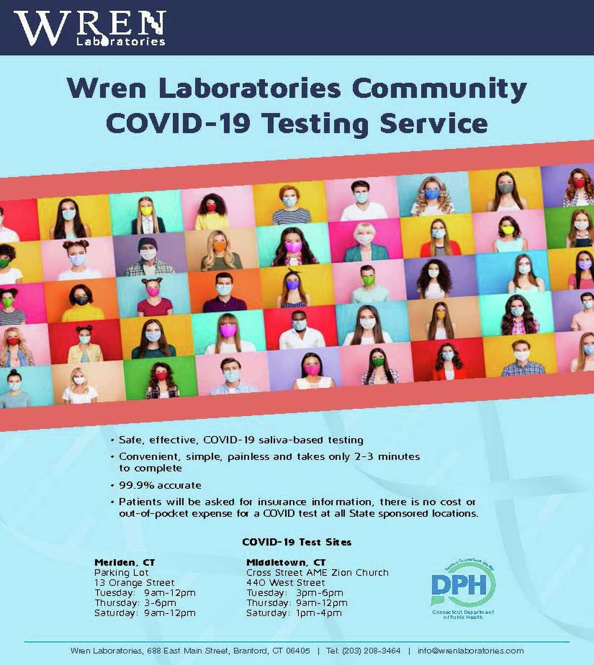 A new COVID-19 drive-up testing site is opening in Middletown at the Cross Street AME Zion Church at 440 West St.