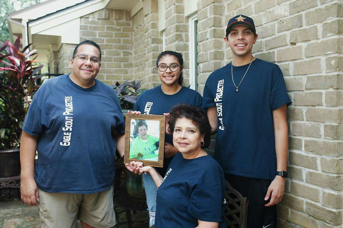 The Sabedra family - Benjamin, left, Alyssa, Benjamin II and Pat - will conduct the annual Anita Sabreda Team Hope Walk on Oct. 2 to support the Huntington's Disease Society of America. The photo is of Benjamin Sabedra's mother, Anita, Sabedra, who died from Huntington's disease.
