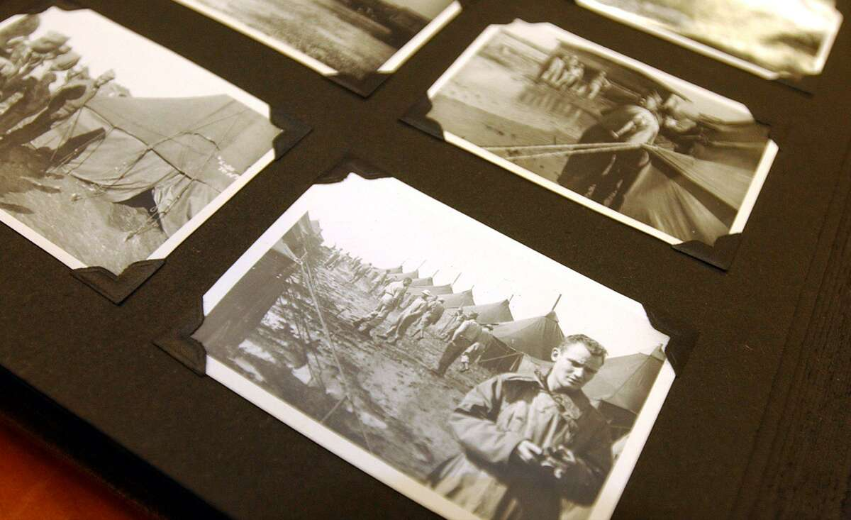 Truman Warner's World War II scrapbook is in the archives at Western Connecticut State University. Warner was a lifelong Danbury resident and also a Western professor