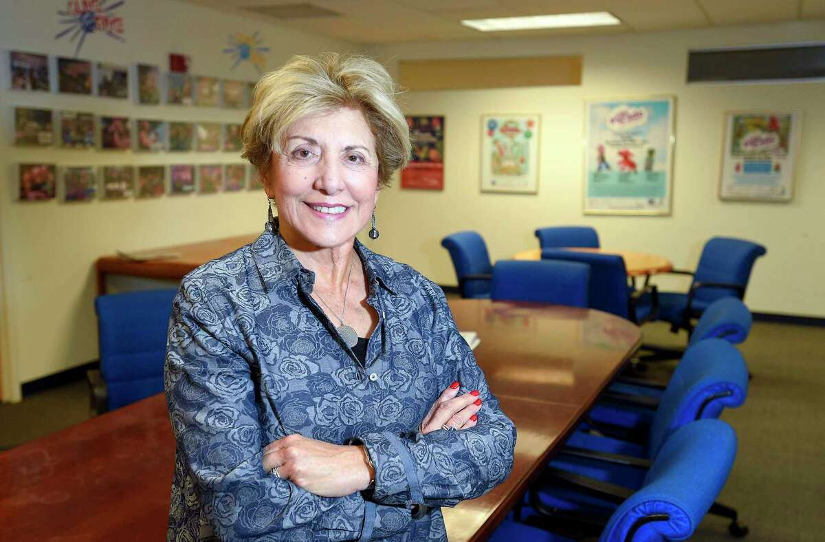 Sandy Goldstein is photographed in 2019 in Stamford, Connecticut.