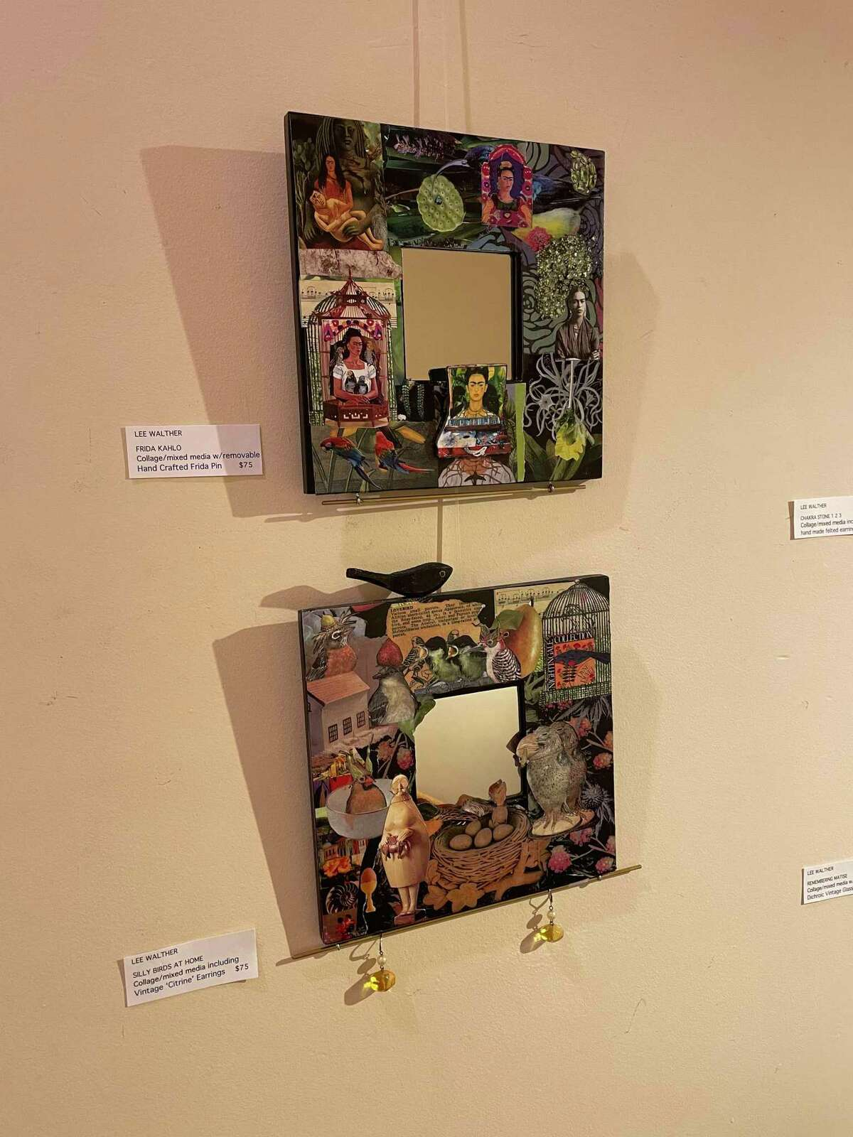 Some of Lee Walther's artwork on display in Fairfield.