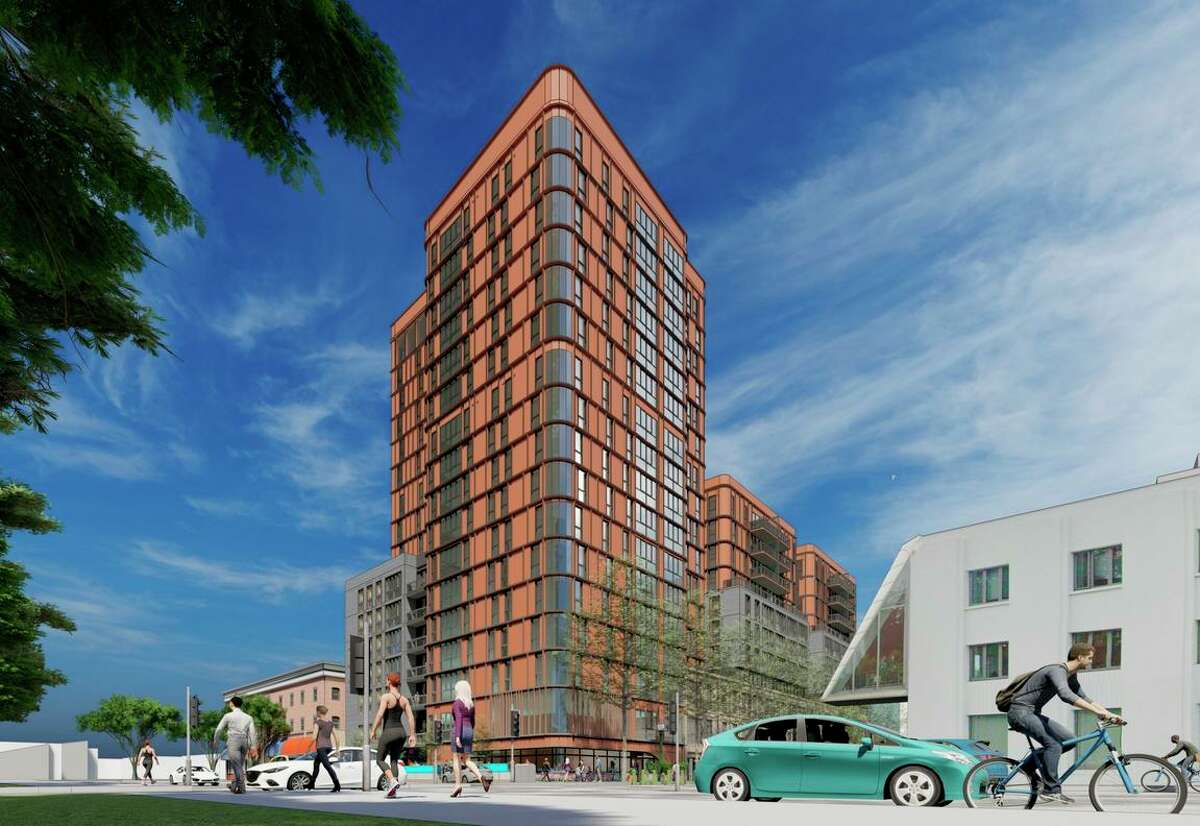 A rendering of the Hub at Berkeley, an apartment complex planned for across the street from the west entrance to UC Berkeley.