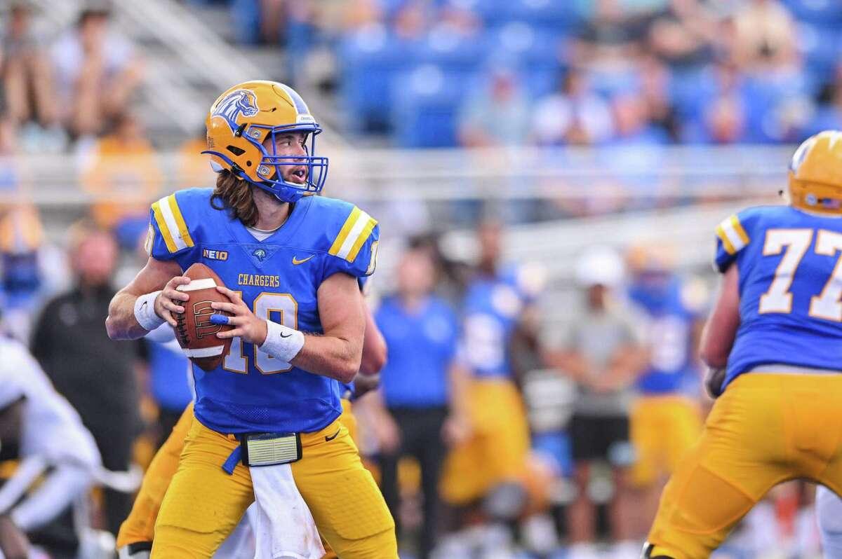 New Haven quarterback Connor Degenhardt.