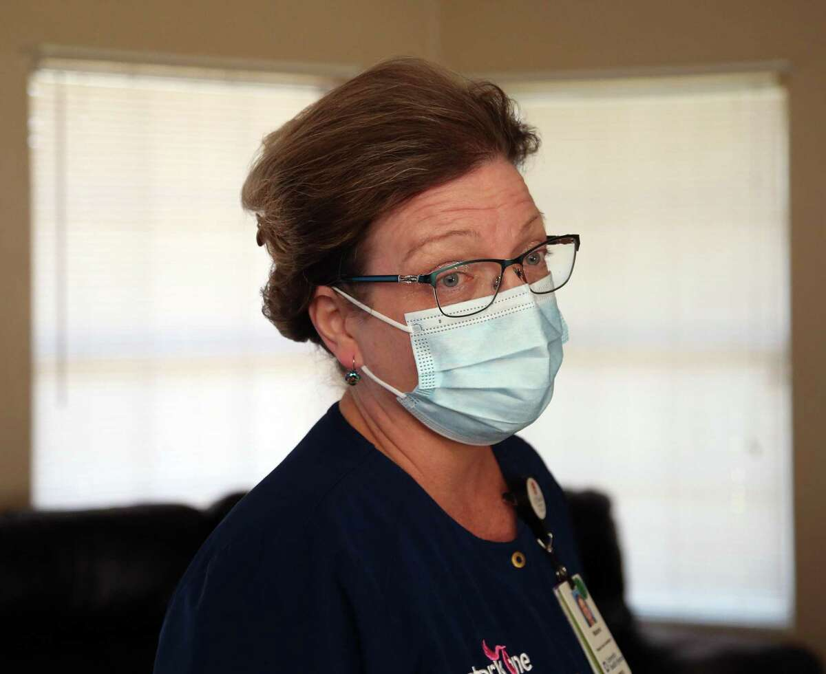 Nurse Melanie Baker is part of a new University Health initiative called Hospital at Home, which enables some patients to receive hospital-level care in their homes.