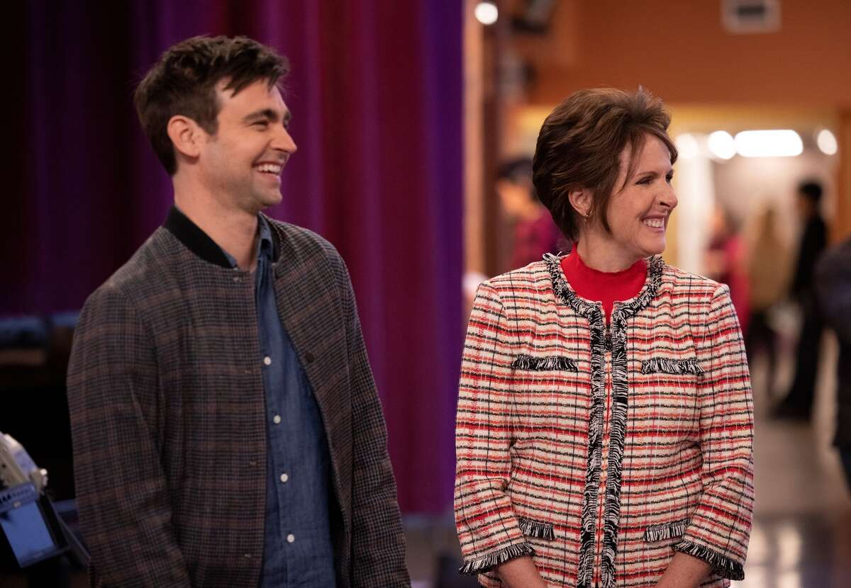 """Drew Tarver and Molly Shannon as Cary and Pat Dubek in """"The two others."""""""