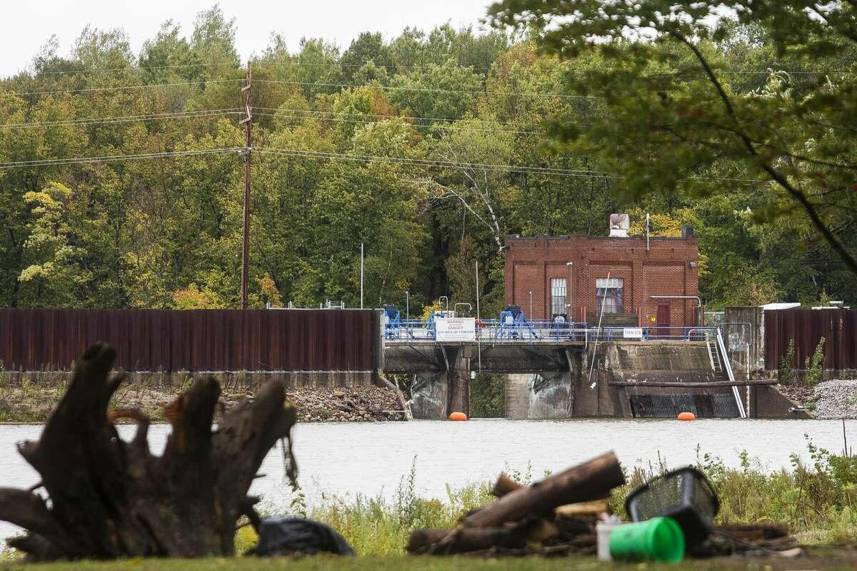 The Smallwood Dam is pictured Thursday, Sept. 23, 2021 in Gladwin. (Katy Kildee/kkildee@mdn.net)