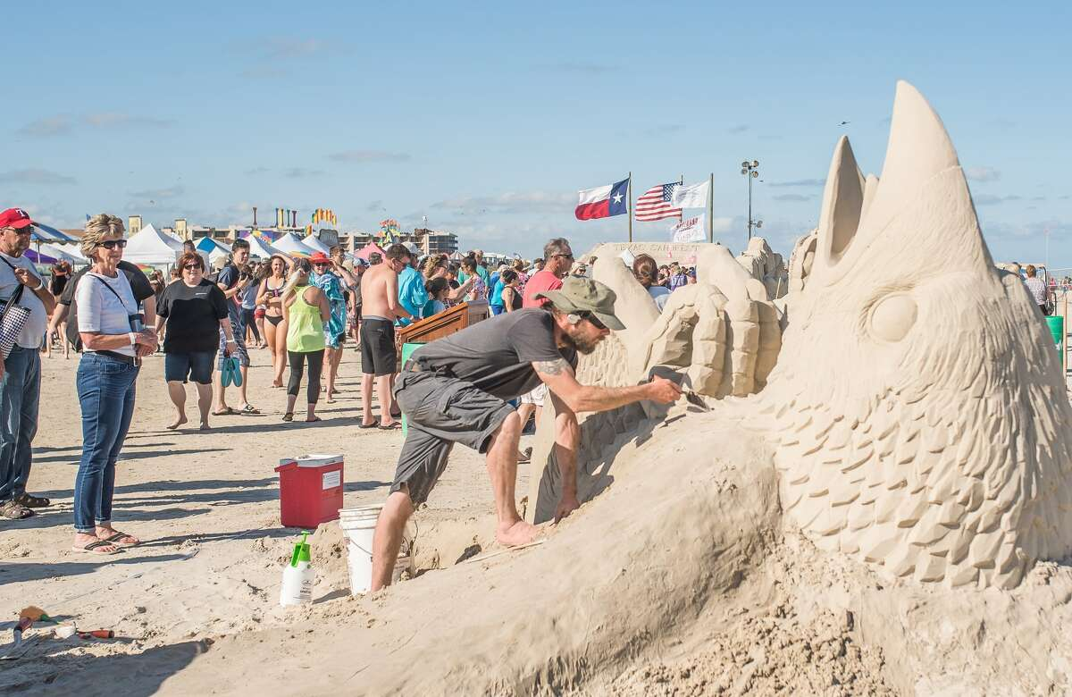 Texas SandFest is the largest native-sand sculpture competition in the USA.