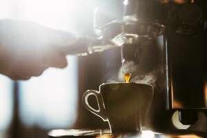 Espresso coffee.