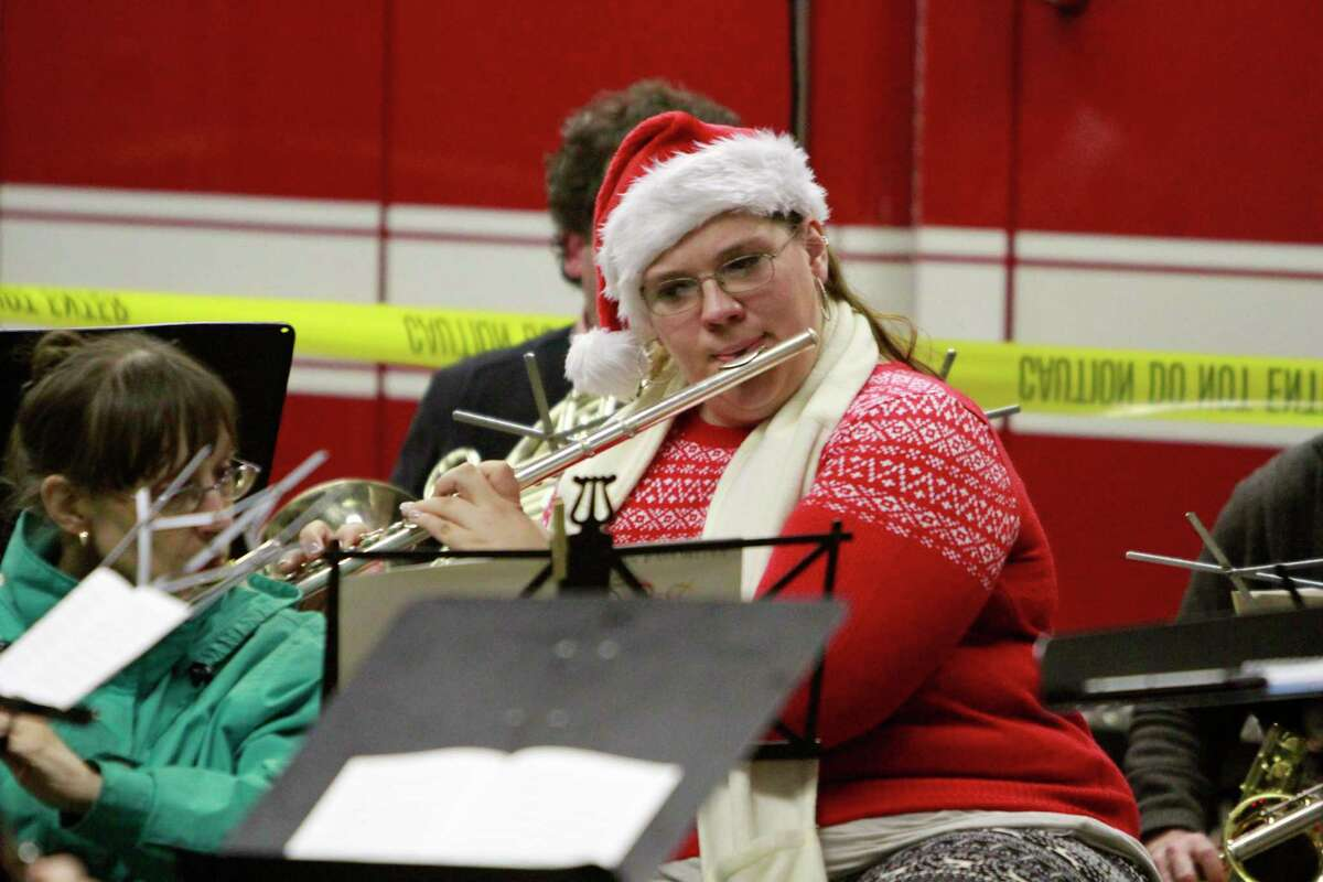 A member of the Sound Beach Community Band entertains the crowds gathered during Old Greenwich First Light in 2015. The event is slated to return on Dec. 4.
