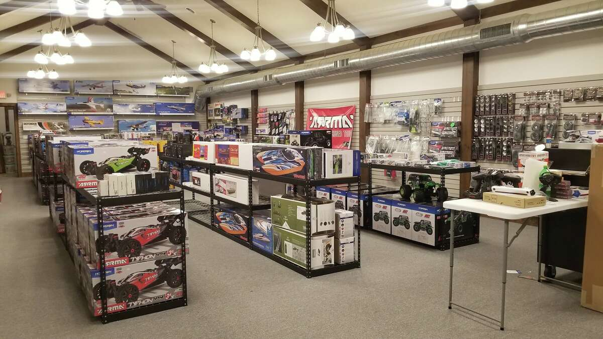 Manistee Hobbies carries remote-controlled cars, trucks, planes, helicopters and boats; parts and accessories; hobby-grade kites; metal detectors; model rockets; and plastic model kits.