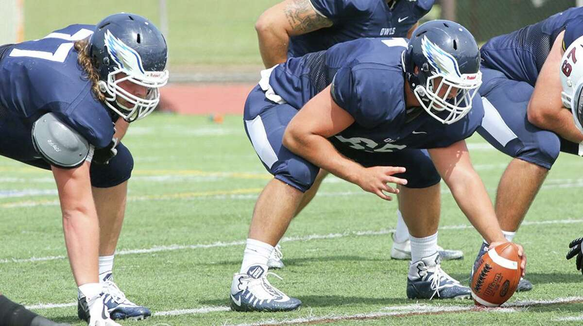 Shelton's Bobby Valeri, a graduate student, anchors an experienced Southern Connecticut State offensive line at center.