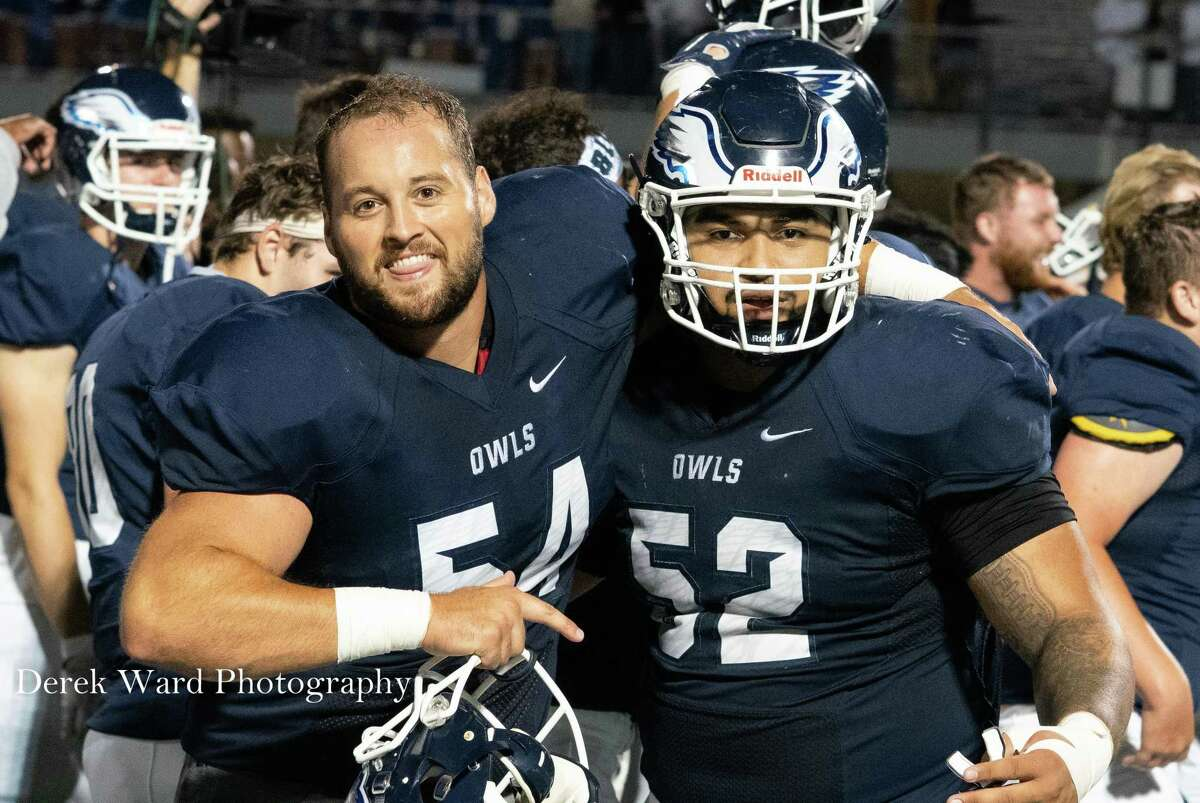 Center Bobby Valeri, a graduate student from Shelton, anchors a veteran offensive line for the Southern Connecticut football team.