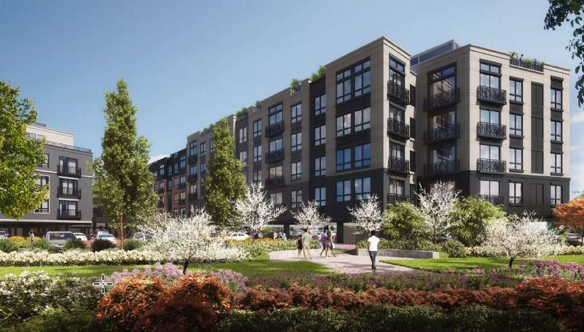 Renderings for the exterior of a 173-unit proposal were presented to the Wilton Planning and Zoning Commission, who asked for more specific renderings, including of the lofts and courtyard.