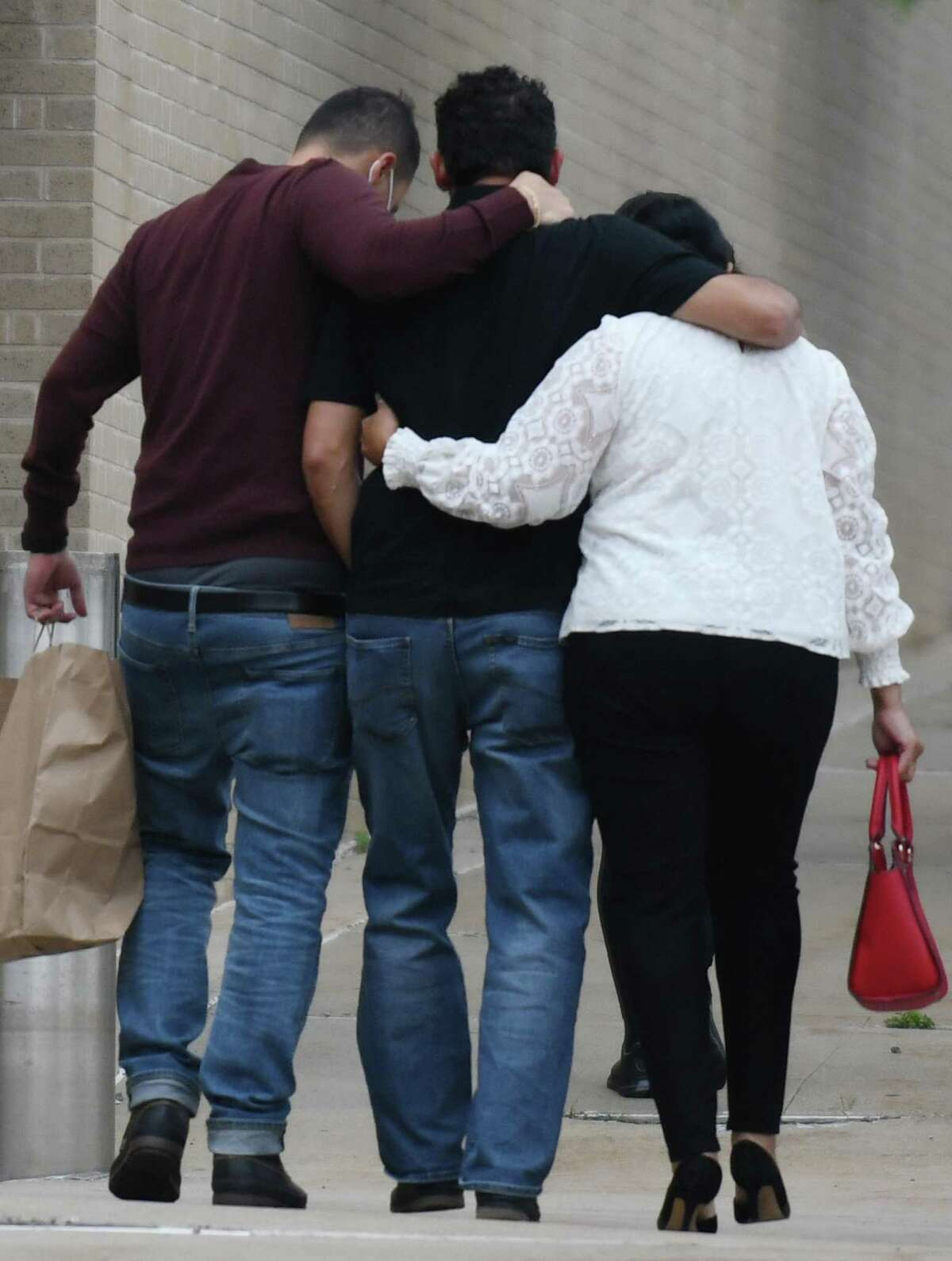 Family of the late Valerie Reyes exit court after the sentencing of Javier Da Silva.