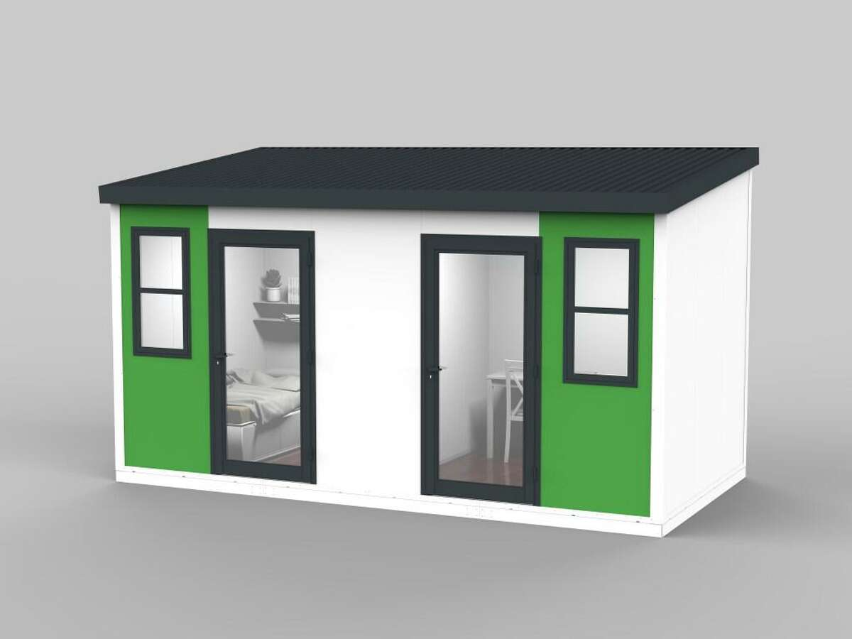 These cabins will be installed at 33 Gough Street in San Francisco, replacing the current tent village for the homeless.